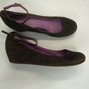 Jeffrey Campbell Sz 6.5 Brown Suede Ankle Wedges